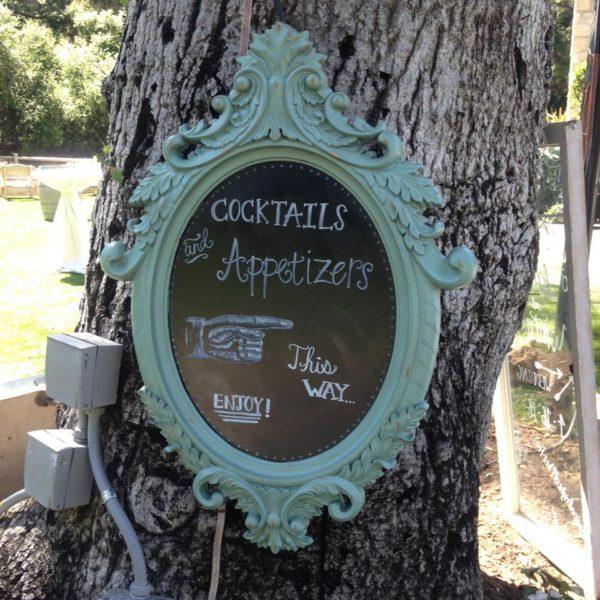 Cocktails & Apps sign